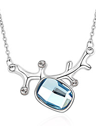Women's Pendant Necklaces Crystal Chrome Love Euramerican Fashion Personalized Light Blue Red Rainbow Jewelry ForWedding Party
