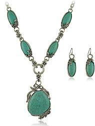 Femme Collier court /Ras-du-cou Turquoise Alliage Vintage Personnalisé euroaméricains Vert clair Bijoux PourMariage Soirée Occasion