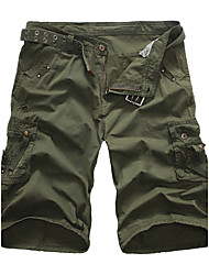 Men's Mid Rise Micro-elastic Shorts Pants,Classic & Timeless Chic & Modern European Style High Quality Loose Solid