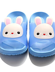 Girls' Slippers & Flip-Flops Summer Slingback Rubber Casual Flat Heel Blushing Pink Blue Red