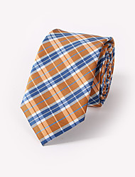 Le garçon vérifié jacquard cravate pt171 polyester soie affaires et vacanciers