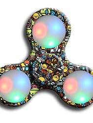 Spinners de mão Mão Spinner Brinquedos Girador de Anel LED Spinner ABS EDCAlivia ADD, ADHD, Ansiedade, Autismo O stress e ansiedade