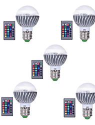 3W E27 Lampadine globo LED A60(A19) 1 Illuminazione LED integrata 300 lm Colori primariIntensità regolabile Controllo a distanza