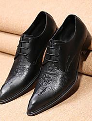 Для мужчин обувь Кожа Весна Осень Удобная обувь Оригинальная обувь Формальная обувь Туфли на шнуровке Для прогулок Шнуровка Назначение