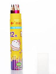Twelve colors of children's drawing pencils