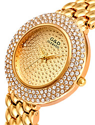 Women's Fashion Watch Quartz Alloy Band Casual Gold Silver Gold