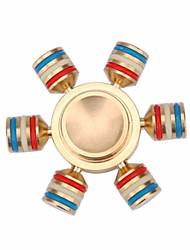 Spinners de mão Mão Spinner Brinquedos Seis Spinner Latão EDCO stress e ansiedade alívio Brinquedos de escritório Alivia ADD, ADHD,