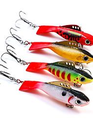 """1 pcs Poissons nageur/Leurre dur leurres de pêche Poissons nageur/Leurre dur Vert Blanc Jaune Rouge g/Once mm/2-5/8"""" pouce,Plastique"""