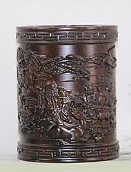 Tirage en bois azusa noir carton porte-stylo décoration de bureau
