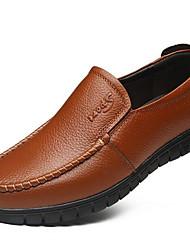 Herren-Sneakers Frühjahr Komfort Leder lässig braun gelb schwarz