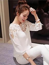 Women's Lace Fashion Chiffon Lace ¾ Sleeve Loose Blouse
