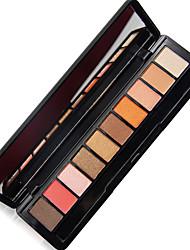 10*8 Paleta de Sombras Mate Brilho Paleta da sombra Pó Normal Maquiagem para o Dia A Dia Maquiagem Esfumada