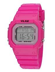 Vilam Kids' Sport Watch Digital Children Watch  Calendar Water Resistant / Water Proof Shock Resistant Luminous Plastic Band Watches