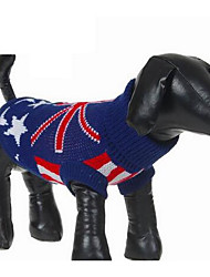 Собака Свитера Одежда для собак На каждый день Мода Носки детские Темно-синий
