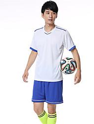 Hombres Fútbol Chándal Transpirable Cómodo Verano Deportes Terileno Fútbal Blanco Amarillo Azul