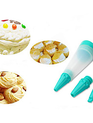 3Pcs  Cake Pen Dessert Decorating Syringe Cylinder Silicone Writing Paint Pens Pastry Icing Cream Chocolate Cookie Bakeware Cake Tools
