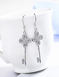 Drop Earrings Basic Copper White Jewelry For Daily Casual 1 pair