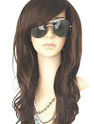 MelodySusie Curly Heat Resistant Wig Women Long Wave Wig with Free Wig Cap