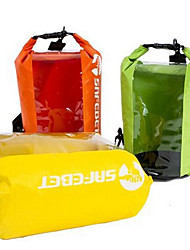 8 L Swimming Beach Waterproof Rain-Proof Moistureproof Arm Green Crimson Yellow Vivid Pink Orange PVC