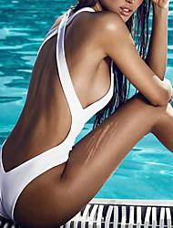 Femme Licou Une-pièce Sport décolleté Plongeant Couleur Pleine Croisé,Polyester Solide