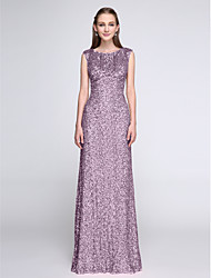 LAN TING BRIDE Floor-length Scoop Bridesmaid Dress - Sparkle & Shine Sleeveless Sequined