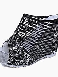 Da donna Sandali Comoda Club Shoes PU (Poliuretano) Primavera Estate Autunno Casual Footing Comoda Club Shoes Pizzo Laccetto intrecciato