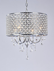 Drum Chandelier Crystal Modern 4 Lights