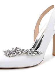 Mujer-Tacón Stiletto-Talón Descubierto Zapatos del club-Sandalias-Boda Exterior Oficina y Trabajo Vestido Informal Fiesta y Noche-Seda-