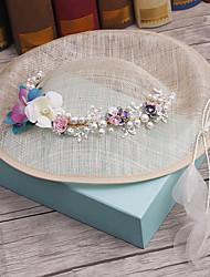 Alliage imitation perle tissu coiffure-mariage occasion spéciale casque extérieur cheveu 1 pièce