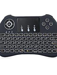 Écouteurs volants rétro-éclairés au clavier de souris de l'air h9 2.4ghz sans fil pour la boîte de télévision Android et le PC avec pavé tactile