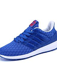 Da uomo-Sneakers-Tempo libero Casual Sportivo-Comoda Suole leggere pattini delle coppie-Piatto-Tulle-Nero Blu