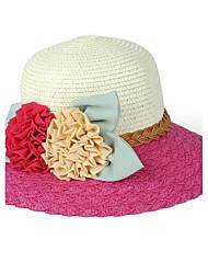 Women's Summer Sea Beach Flowers Patchwork Straw Hat Cap Beautiful Flower Girl&lady Round Wide Brim Hawaii Folding Soft Sun Hat