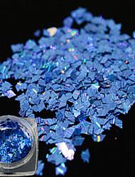 1 бутылка новой моды блеск синий дизайн ногтей лазерной полосой ромб тонкий срез ослепительно блестка украшение для маникюра DIY красоты