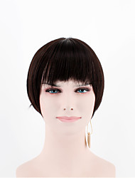 fashion lady short paragraph wigs black straight straight bangs high temperature wire wigs