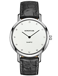 KINGNUOS Men's Fashion Watch Wristwatch Quartz Leather Band Cool Casual Creative Two Seconds Simple Classic Business Watches