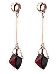 Dámské Visací náušnice imitace Sapphire Euramerican bižuterie Slitina Kapka Šperky Pro Denní