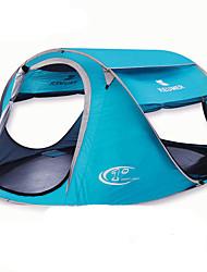 3-4 Personen Zelt Einzeln Automatisches Zelt Einzimmer Camping Zelt 2000-3000 mm Glasfaser OxfordFeuchtigkeitsundurchlässig Wasserdicht