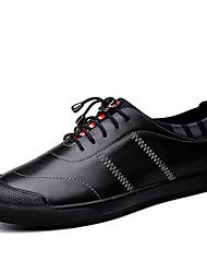 Herren-Sneakers Frühjahr Herbst Komfort PU lässig blau schwarz