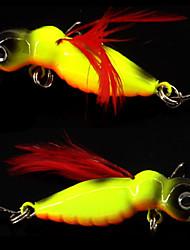"""2 Stück Anderen Fischen-Werkzeuge Angelköder Jigs Weiß Rot Gelbbarsch Gold-Blau-Rücken g/Unze,45 mm/1-3/4"""" Zoll Köderwerfen"""