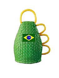 3pcs пластичный прочный футбол / caxirola футбола