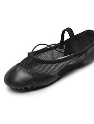 Non Customizable Women's Dance Shoes Fabric Ballet Flats Flat Heel Professional Black