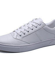 Herren-Sneaker-Lässig-PUKomfort-Weiß Schwarz/weiss Weiß und Grün