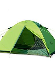 2 Pessoas Tenda Duplo Tenda Dobrada Um Quarto Barraca de acampamento Alúminio Náilon Mantenha Quente Dobrável-Campismo