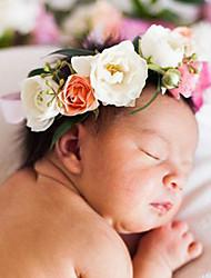 Newborn Babys Fabric Hair Clip Flowers Cute Party Casual Spring Summer Headband Headpiece Head Wreath Hair Accessories Flower Girls
