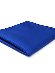 CH32  Handmade Men's Pocket Square Handkerchiefs Blue Solid 100% Silk Classic Unique  Jacquard Woven New