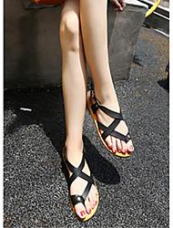 Женские сандалии комфорт синтетический случайный зеленый черный