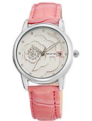 SKONE Módní hodinky Křemenný Kalendář Voděodolné Svítící Kůže Kapela Cool Běžné nošení Černá Červená Růžová