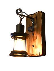 Qsgd ac220v-240v 4w e27 led lumière swall lumière led mur chinois rétro nostalgie créative éclairage lampe à lampes à pétrole appliques
