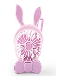 A nova carga mini ventilador de mão portátil usb ventilador estudantes coelho pequeno fã ventilador de ventilação 5 v