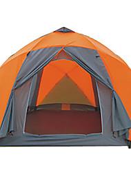 > 8 человек Световой тент Двойная Складной тент Двухкомнатная Палатка 2000-3000 мм Стекловолокно ОксфордВлагонепроницаемый